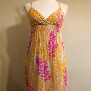 Old Navy Colorful Boho Spaghetti Strap Maxi Dress